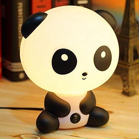 Panda de la historieta de los niños cama Escritorio de mesa lámpara de noche Lámparas de dormir del sueño del Asistente,Lámpara de cabecera, Lámparas de escritorio,lámpara de noche, Ø 19