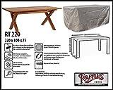 Raffles Covers RT220 Schutzhülle für rechteckige Gartentisch 220 x 100 Schutzhülle für rechteckigen Gartentisch, Abdeckhaube für Gartentisch, Gartenmöbel Abdeckung