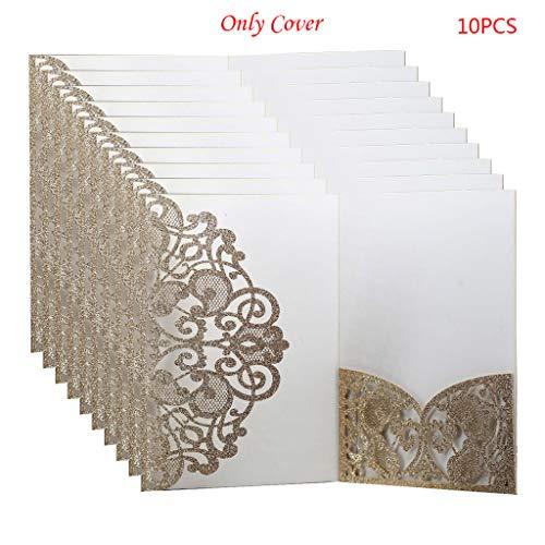 ngen zum Schneiden von Karten, Einladungen, Hochzeitsgrüßen, personalisierbar, für Partys, Geschäfte, goldfarben ()