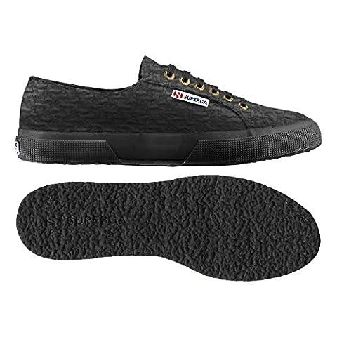 Superga Women's Women's Black Cotton Boucle Sneakers In Size 41 Black