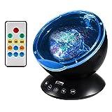 Projektor Lampe Ozeanwellen Projektor Baby LED Projektor mit Fernbedienung und