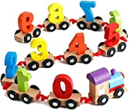 Popsugar Wooden Train with Numbers Educational Toy for Kids | Learn Numbers, Motor Skills, Multicolor