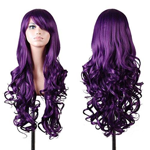 EmaxDesign de las pelucas 80cm calidad de alta largo completo de las mujeres pelo rizado pelo ondulado...