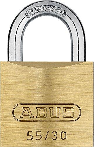 ABUS 02854 55/30 Cadenas en Laiton de 30mm 0001577, Or, 30