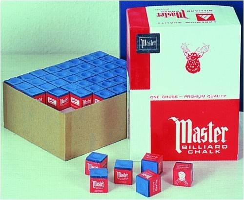 Original USA Billardkreide Master blau, 144 Stück im Karton