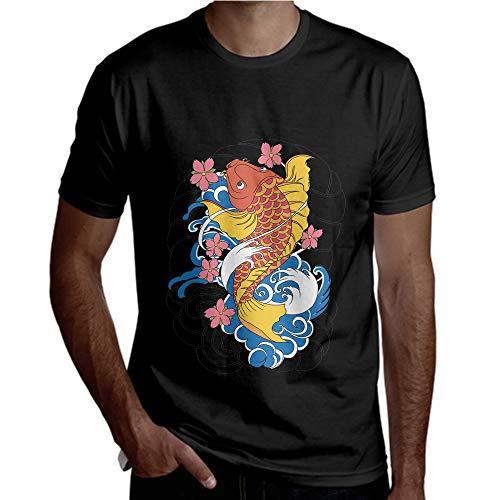 Schöne rote gelbe Fische Klassische Unisexmänner passten das Crewneck-T-Stück der T-Shirt-Frauen -