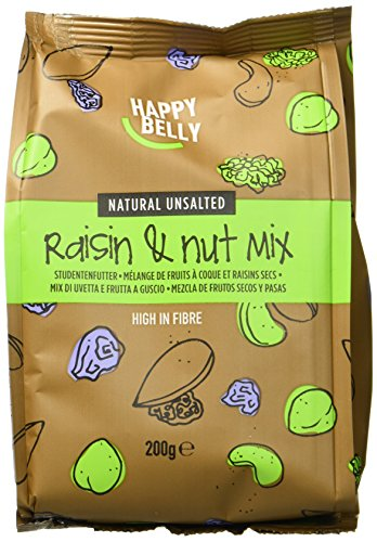 Marchio Amazon - Happy Belly Mix uvetta e frutta a guscio , 7 x 200 g
