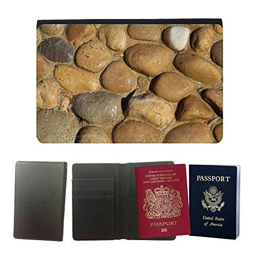 PU Funda para pasaporte // M00158991 Pietra, Roccia, ghiaia sfondo naturale // Universal passport leather cover - Pietra Naturale Della Roccia