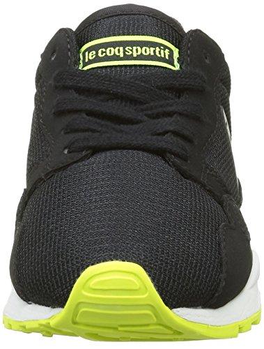 Le Coq Sportif Lcs R900 Gs, Scarpe da Ginnastica Basse Unisex – Bambini Nero (Black/Safety Yellow)