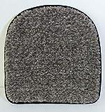 Gesundheitsapostel Sitzkissen halbrund, Schurwolle, Graubraun, 40 x 40 x 2.5 cm