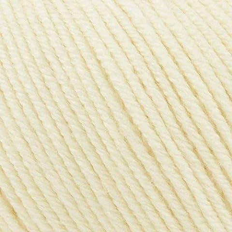 Rowan super fine merino 4ply couleur crème - 262, babywolle laine mérinos très fine & crochet à tricoter