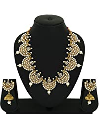 Matushri Art Traditional Of Indian Jewelry Of Wedding Collection Necklace Set Of Mother Of Peal For Women And...
