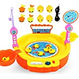 Toys Bhoomi 2 in 1 Colorful Magnetic Fishing Game Toy with The Music & Light for Kids Boys and Girls - Learn to Fish (Assorted Color)