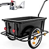 Deuba Bike Trailer Bicycle Cargo Penumatic Tyres Coupling Luggage Storage Transport Cart Utility Handle Towing Drawbar