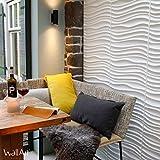 Pannello a parete 3D Maxwell | Rivestimento Murale WallArt | 12 Pannelli 3D a Parete per la Decorazione della Parete | 3 m² Parete 3D - Pannelli Decorativi Interni da Muro 3D | Rivestimento Pareti 3D