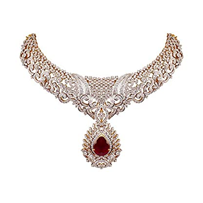 WHP Jewellers 18k (750) Yellow Gold and Diamond Choker Necklace