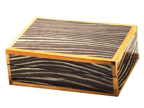 Eccolo Hochglanz Lack Java Zebra-Box, Arabesque Mint, 9.5-inch (Lack-aufbewahrungsbox)