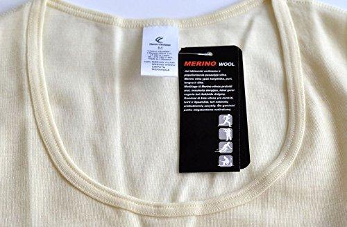 Utenos Unterhemd langarm 100% Merino Wolle elfenbeinfarben