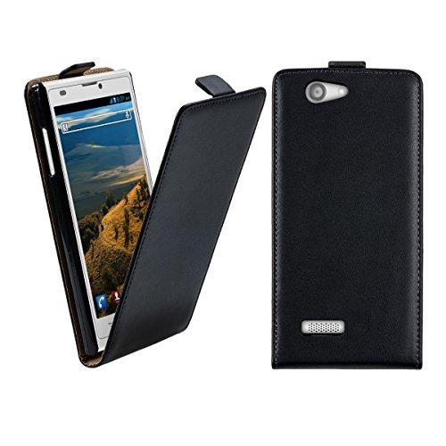 kwmobile Flip Case Hülle für ZTE Blade L2 - Aufklappbare Kunstleder Schutzhülle Tasche im Flip Cover Style in Schwarz