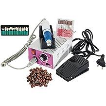 Crisnails ®Torno de Uñas Profesional para Manicura y Pedicura 30000 RPM + 13 Puntas+ 20