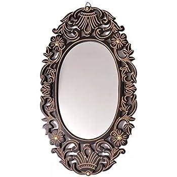 Buy Kurtzy Vintage style Home Decorative wooden Vanity wall Mirror ...