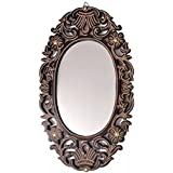Shalim Vintage Style Home Decorative Wooden Vanity Wall Mirror Glass For Living Bathroom Bedroom