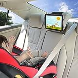 iPad Auto Halterung TFY Auto Kopfstützen Halterung mit Silikon Haltenetz für 4,5-6 Zoll Handys und 7-10,5 Zoll Tablets
