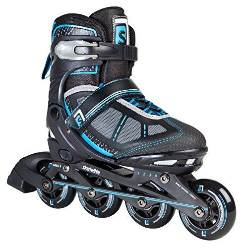 Skatelife Unisex Rollerskates Lava Jr. Verstellbar SKL-SKA-0054 38.5-42 Black/Blue