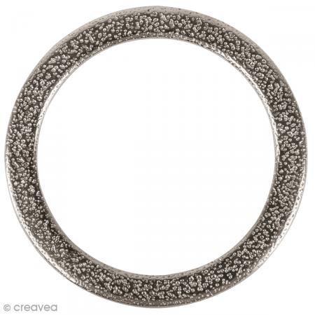 Rayher 22669606 Metall- Schmuckring flach, 37mm ø, gehämmert, SB-Btl 1