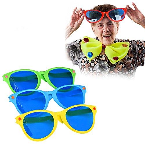 Sumind 4 Stück Jumbo Sonnenbrille Kunststoff Gläser Party Brillen für Strand Fancy Dress Party Angebot