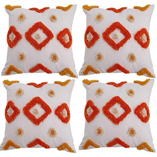 BAIVIT Set mit 4 Marokkanischen Stil Kissenbezug,