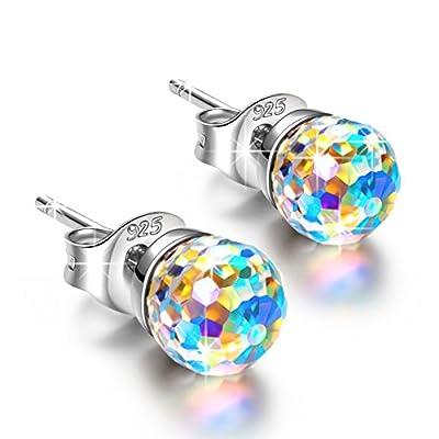 Alex Perry Fantastic World 925 Sterling Silver [Aurore Boreale] Crystals from Swarovski, Women Pierced Stud Earrings, Allergen-free