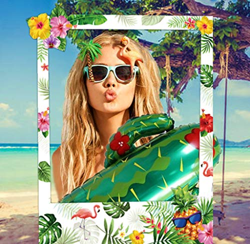 Photo Booth Requisiten Rahmen Party Supplies Hawaiian Tropical Tiki Geburtstag Baby Shower Brautdusche Hochzeitsdekorationen ()
