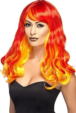 Costumes Flamme - Smiffys Femme, Perruque flamme du diable ombre,