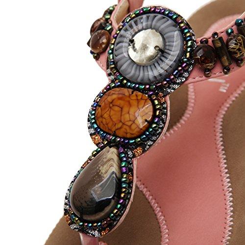 dqq femmes de Bohème avec string pour femme sandales Rose - rose