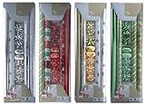 Geschenkpapier - Set 12 tlg. mit Schleifen und Bändern