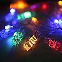 Foto LED clip della luce della stringa, Cozyswan 5M / 16ft pile impermeabile foto della clip 30 LED luce della stringa, multi-colore, per appendere quadri, Note, opere d'arte
