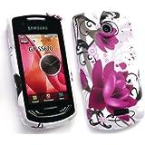 Emartbuy Samsung S5620 Monte Gel Skin Cover Purple Bloom