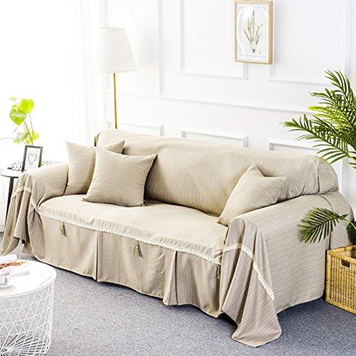 Stretch sofabezug,Baumwolle und leinen all-inclusive-minimalistischen modernen sofabezug Sofa-deckung Wohnzimmer sektionaltore handtuch Möbel-protector für 1 2 3 4 kissen sofa-F Tischdecken(51*67inch)