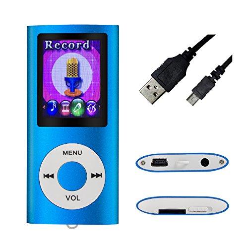 Mymahdi–Digital, compact et portable Lecteur MP3/MP4(max support 64Go carte micro SD) avec photo Viewer, E-Book Reader et radio FM Enregistreur vocal et vidéo vidéo en Darkblue