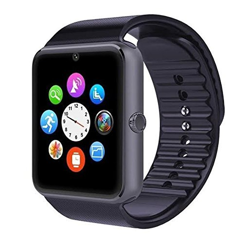 Lenovo Vibe X3 LiteApple Smart Watch (42 mm) Compatible Bluetooth Smart Watch GT08 Wrist Watch Phone with Camera & SIM Card Support Hot Fashion New Arrival Best Selling Premium Quality Lowest Price with Apps Touch Screen, Multi Language with Android Ios mobile tablet iphoneBLACKBy JOKIN