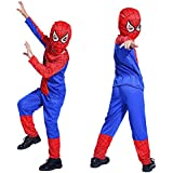 Fancydresswale Spiderman Polyster Dress| Avenger Theme Super Hero Dress For Boys| Boys Dress For Birthday Party, Role Play, Fancy Dress Competition