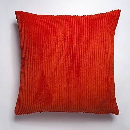 orange-plain-ribbed-faux-chenille-cushion-covers-in-bright-fresh-orange-large-to-fit-24-cushion-pad