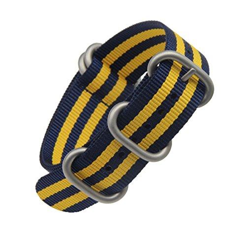 20 millimetri in un unico pezzo cinturini per orologi stile NATO nylon...