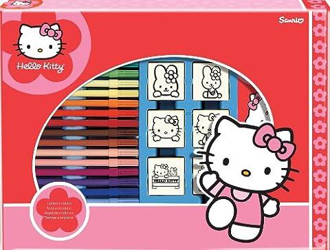 Noris 606314803 - Hello Kitty,Großes Stempelspiel, 7 Stempel
