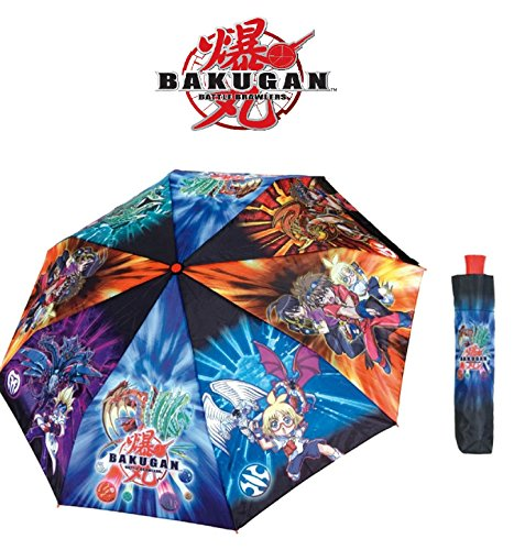 Perletti Bakugan Childrens Kids Wind-Resistant Extendable Umbrella