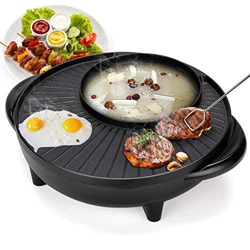 Coreano barbecue senza fumo, tegame elettrico e forno per arrosti elettrici, forno elettrico per uso domestico senza fumo e antiaderente. forno multifunzione