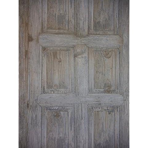 Pannello legno rustico blu carta da parati effetto
