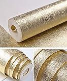 YAGNBAO Papier Peint Métal Argent Or Et Cuivre Luxe Moderne Texture Papier Peint Environnement Rouleau Paillettes Feuille D'Or Tissu D'Herbe Vinyle Pvc Papier Peint Décoration De La Maison E