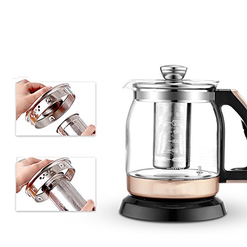 Kettle FEIFEI Electric Glass Black Gold Color 700W 1.2L 268 * 208 * 255mm Anti-dry Easy to move